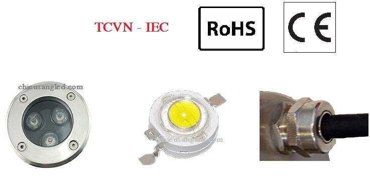 các bộ phận đèn led âm đất 9w