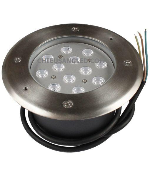 đèn led âm đất 12w tròn