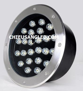 đèn led âm đất 24w, đèn led âm sàn 24w, đèn led âm đất tròn 24w
