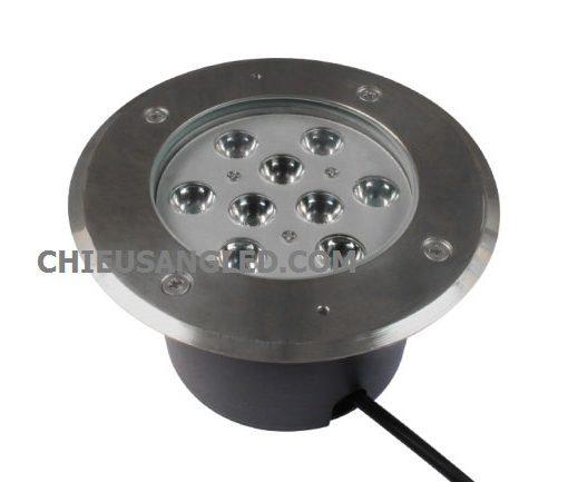 đèn led âm đất âm sàn tròn 9w